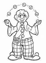 Clown Coloring Pages Printable Colouring sketch template