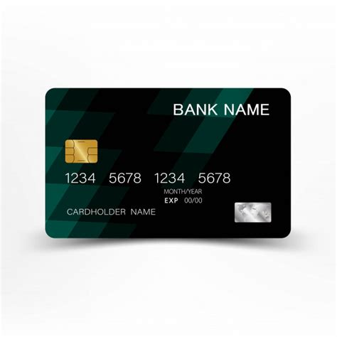 Square credit card processing offers an affordable, easy, and immediate way of accepting card payments. Green credit card template design.   Premium Vector