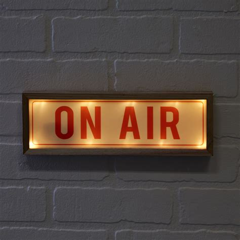 on air light quot on air quot light box led sign in gift box