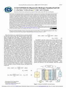 Pdf  A Unit Cell Model Of A Regenerative Hydrogen