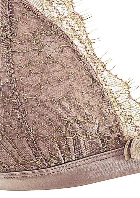 jardin imperial glossy chesnut triangle bra