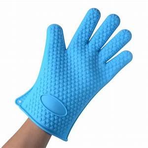 Gant De Cuisine Anti Chaleur : gant de cuisine silicone anti chaleur bleu achat vente gants de cuisine cdiscount ~ Dode.kayakingforconservation.com Idées de Décoration