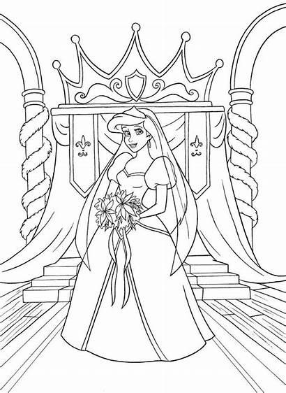 Ariel Kleurplaat Prinses Princess Coloring Disney Downloaden
