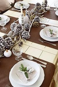 Festliche Tischdeko Weihnachten : winterlich festliche tischdeko mit naturmaterialien mein blog eclectic hamilton dekoideen ~ Udekor.club Haus und Dekorationen