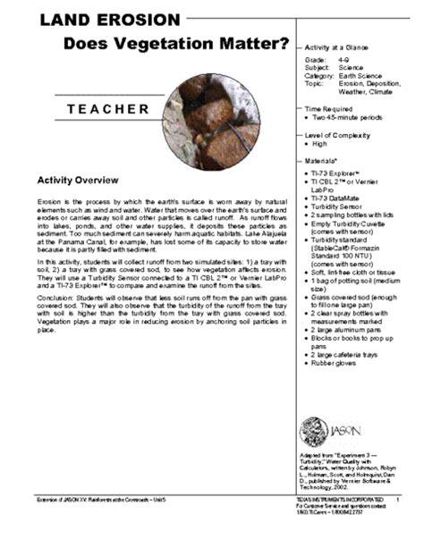 land erosion teacher pdf education world