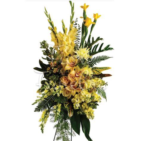Cuscino Per Funerale - cuscino lutto di orchidee e fiori gialli fiori funerale