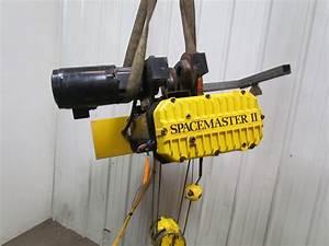 R U0026m Spacemaster Ii 2 Ton 4000lb Wire Rope Electric Crane Hoist 20 U0026 39 Lift Trolley