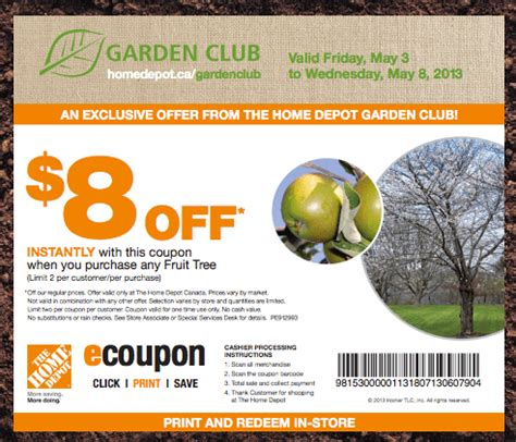Backyard Promotions by The Home Depot Canada Garden Club Coupons Save 8 On Any