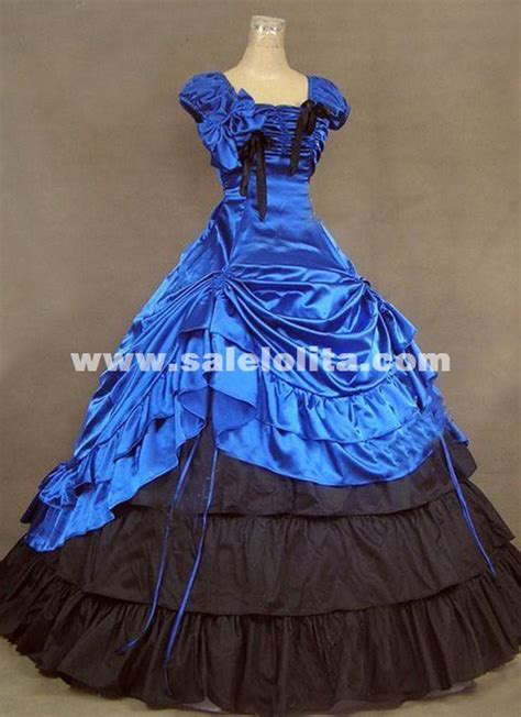 brand  royal blue southern belle victorian ball gowns