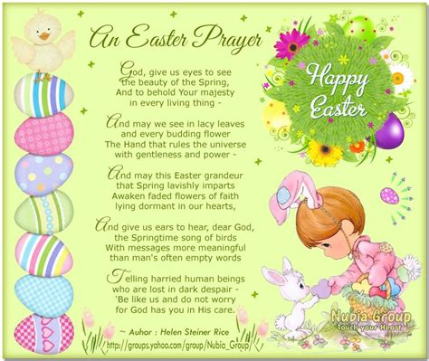 Teaching kids prayer is an important step in showing them the ways of our faith. easter poems and prayers | the Nubia_group Morning cards ...