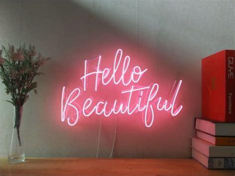 beautiful neon sign  bedroom wall home decor