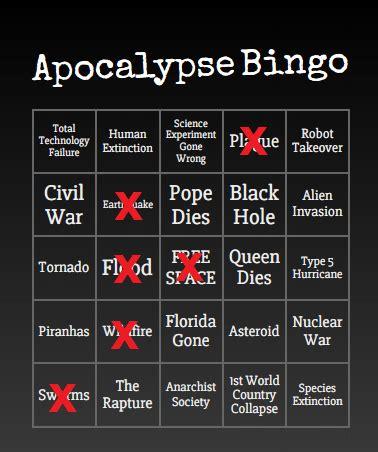 bingo card meme shows    year