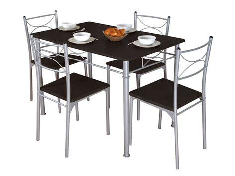 conforama chaise de cuisine ensemble table 4 chaises sernan coloris gris wengé