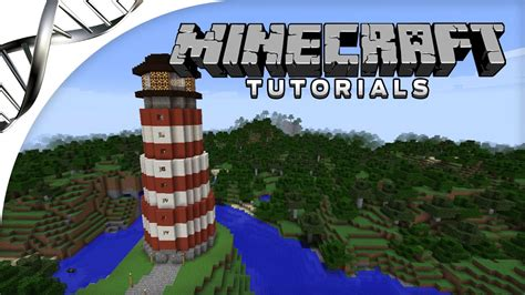 minecraft tutorial   build  lighthouse  redstone rotating light youtube