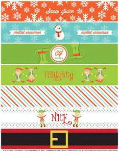 Free Printable Christmas Water Bottle Labels