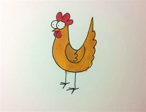 draw  cartoon chicken henrietta chicken