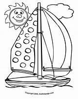 Coloring Sailboat Printable Barche Colorare Vela Sunny Disegni Clipart Clip Disegno Brodovi Boat Osamnaest Barca Disegnare Bojanke Cliparts Template Bambini sketch template