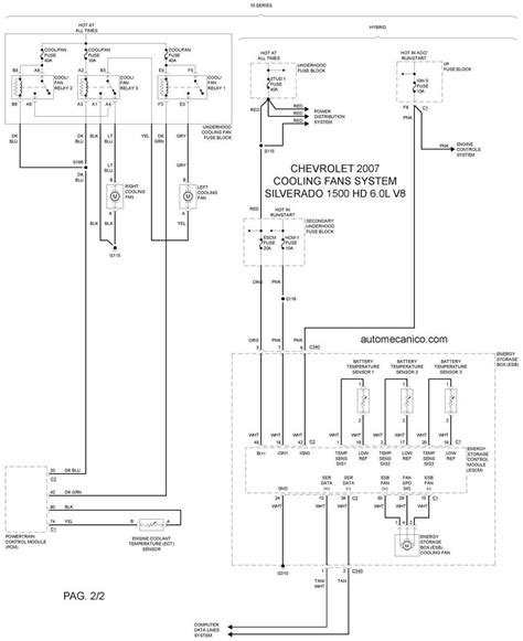 chevrolet cooling fans system diagramas ventiladores abanicos motores 2007 mecanica