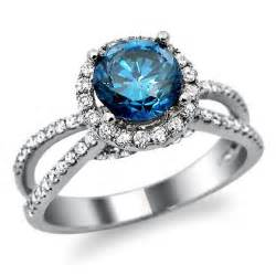 engagement rings with blue 18k white gold blue engagement ring engagement rings review