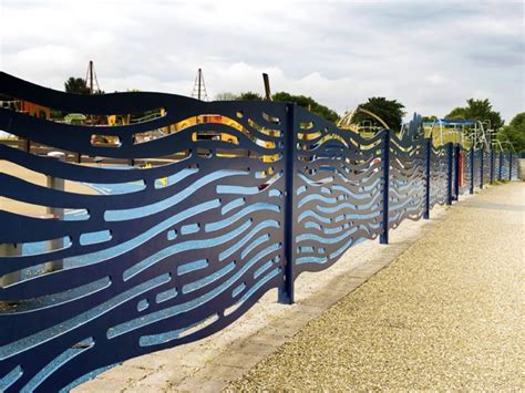 decorative metal fence panels  fencing people