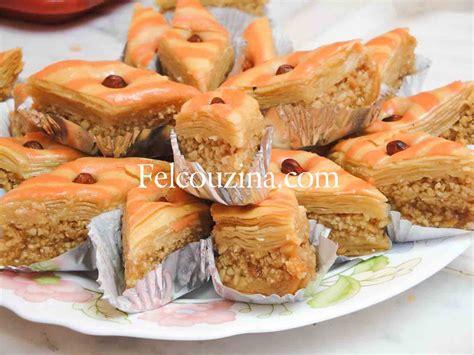 cuisine algeroise traditionnelle recette de baklawa maison un gâteau traditionnel algérien