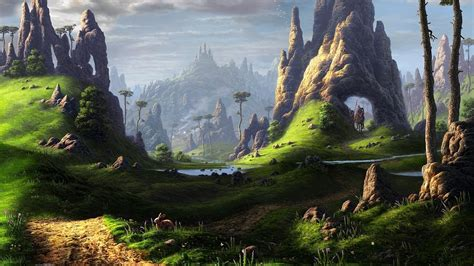 fantasy art landscape wallpapers hd desktop  mobile