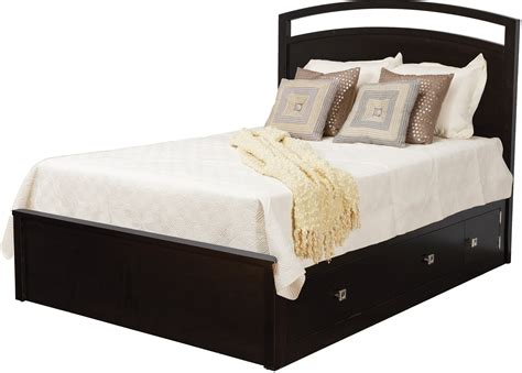 denno 39 s furniture bedding nouveau pedestal bed w 60 quot drawers 1 per side by