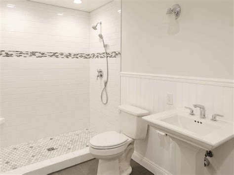 white tile floor bathroom ideas