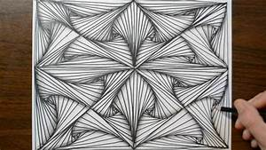 Pattern Doodle Sketch - How to Draw Line Illusions - YouTube