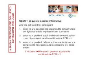 dispensa ecdl ecdl health dispensa