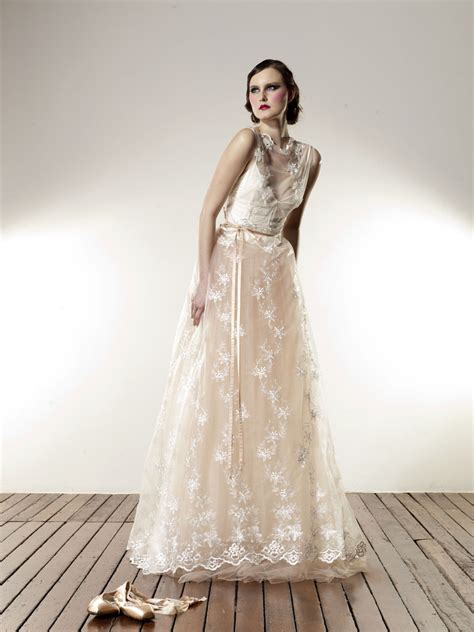 Boat Neck Net Gowns by The Made With Bridal Collection The