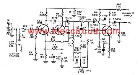 Microphone Preamplifier Using Transistor