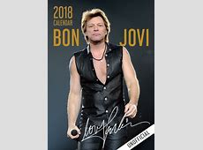 Jon Bon Jovi Calendar 2018 Unofficial eBay
