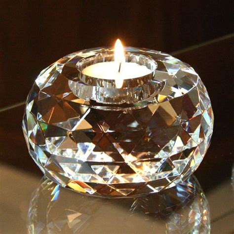 cut crystal tealight candle holder large catering