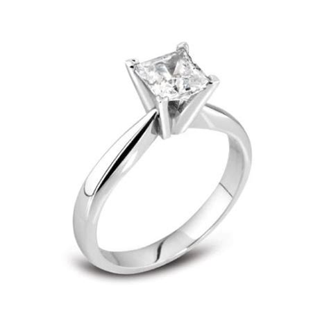 princess cut 18ct white gold engagement ring 0 50 wongs jewellers liverpool