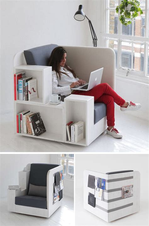 Armchair With Storage by 7 Creative Chairs All Book Will Appreciate