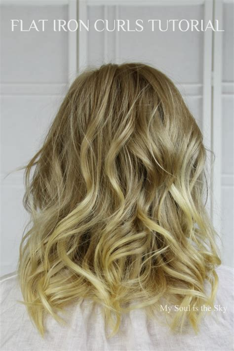 Curling Hairstyles For Medium Hair by Basics Flat Iron Curls Just A Touch Of Gorgeous