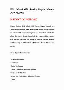 2001 Infiniti G20 Service Repair Manual Download By Fjshefjsne