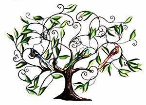 Arbre De Vie Decoration Murale : arbre de vie d corative en fer forg d coration murale avec 3 oiseaux 84 mother 39 s x 122 cm ~ Teatrodelosmanantiales.com Idées de Décoration