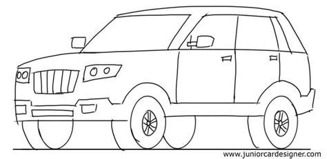kid car drawing car drawing tutorial suv 3 4 front view junior car designer