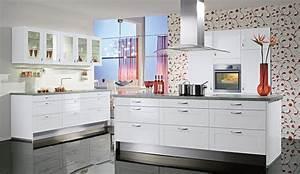 Classic einbaukuche ada hochglanz weiss rahmen kuchen quelle for Küche hochglanz weiss