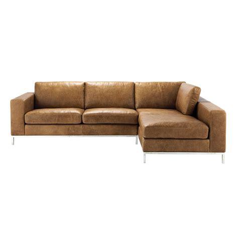 canap lit vintage 4 seater leather vintage corner sofa in camel