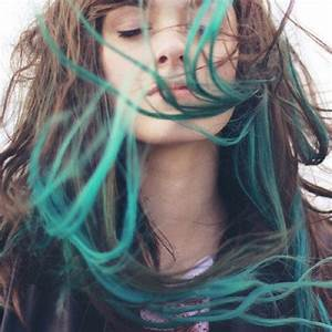 Ombre Turquoise Blue Tip Dyed Hair Extensions Dark by ...