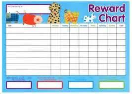 Reward charts and stickers help kids learn correct behavior