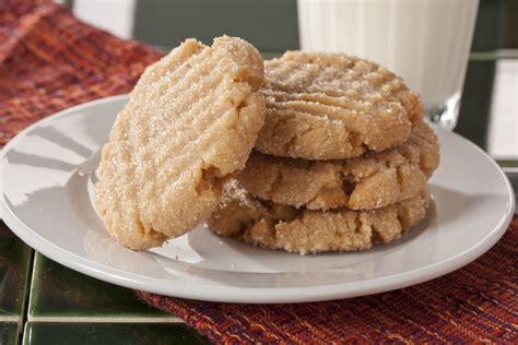 simple peanut butter cookies easy peanut butter cookies mrfood com