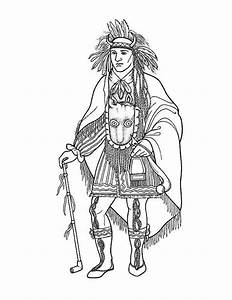 native american coloring pages - awesome native american chief on native american day