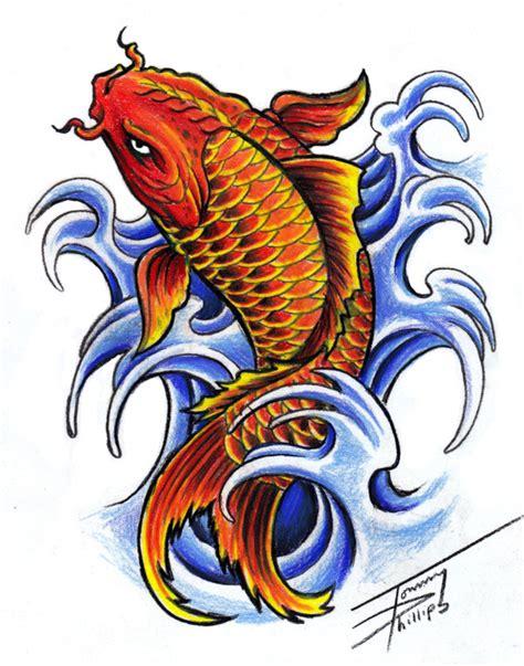 koi fish design  tommyphillips  deviantart