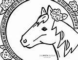 Coloring Horse Booth Museum Apr sketch template