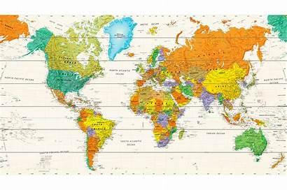 Wereldkaart Houten Map Wooden Monde Carte Woodmap