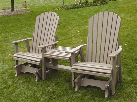 amish outdoor wood and polywood settees from dutchcrafters
